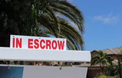 Escrow sign on California home